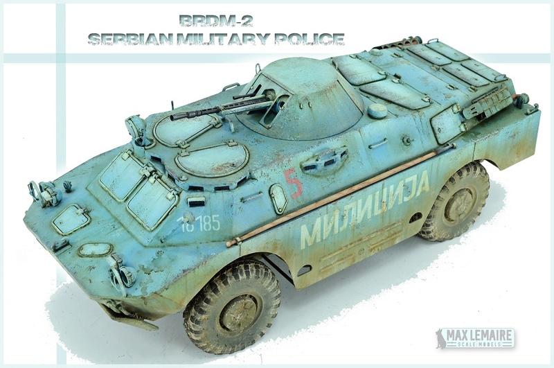 BRDM 2 serbe police militaire (Verlinden au 1/35eme) 13401210