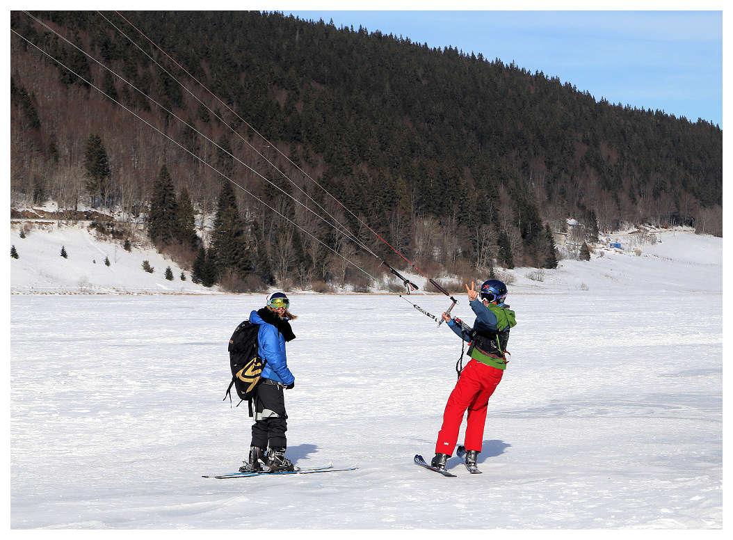 Snowkite sur le lac des Rousses Snowki10