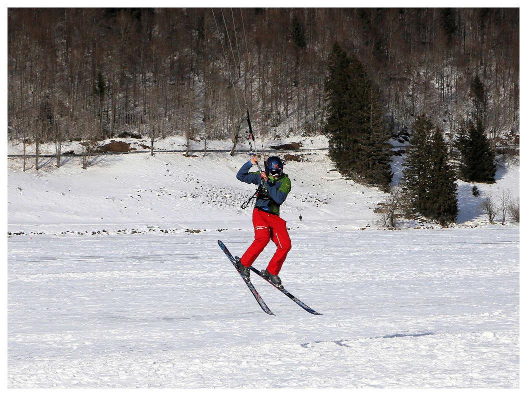 Snowkite sur le lac des Rousses Snowki12