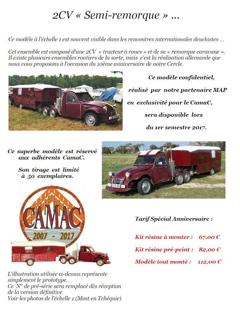 """2017 - CamaC16 :  2CV """"tracteur + remorque"""" Annonc14"""