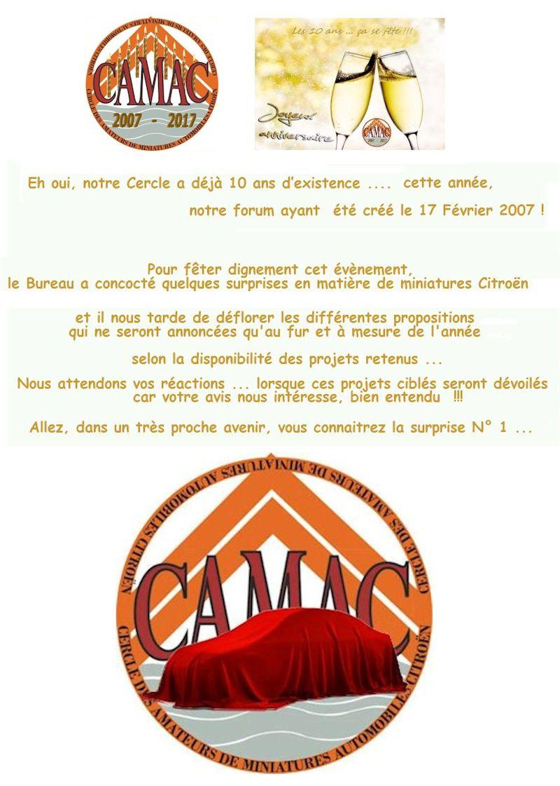 CamaC fête ses 10 ans cette année ...  Annonc15