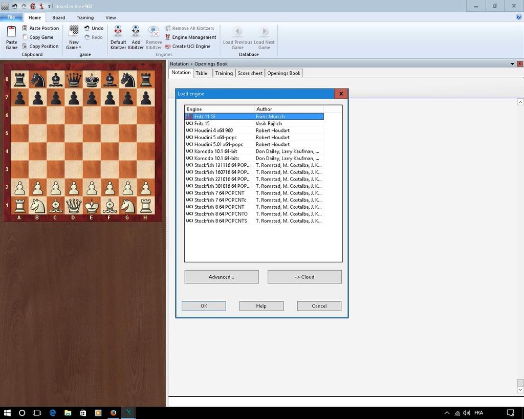 La profondeur d'analyse Chessr10