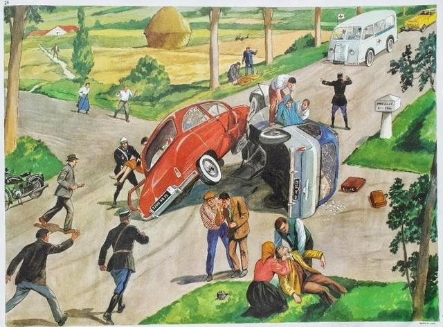 L'automobile et l'écolier Affich14