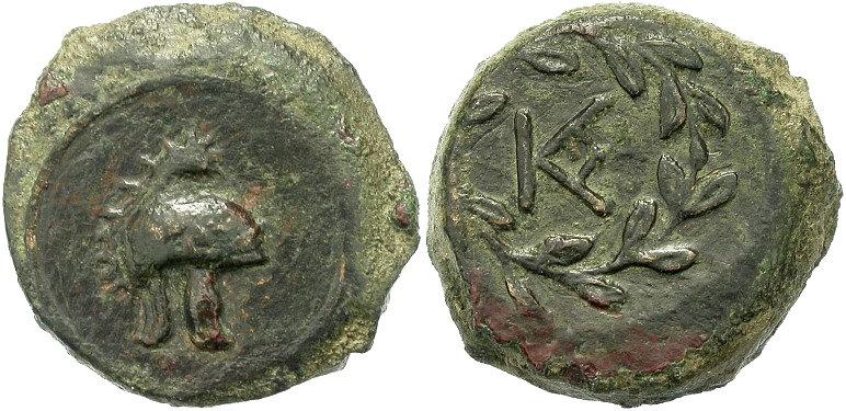 Fausses drachmes de Syracuse en bronze Nji36w10