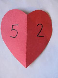 """""""Numeri amici del...""""  - classe prima scuola primaria Hearts11"""