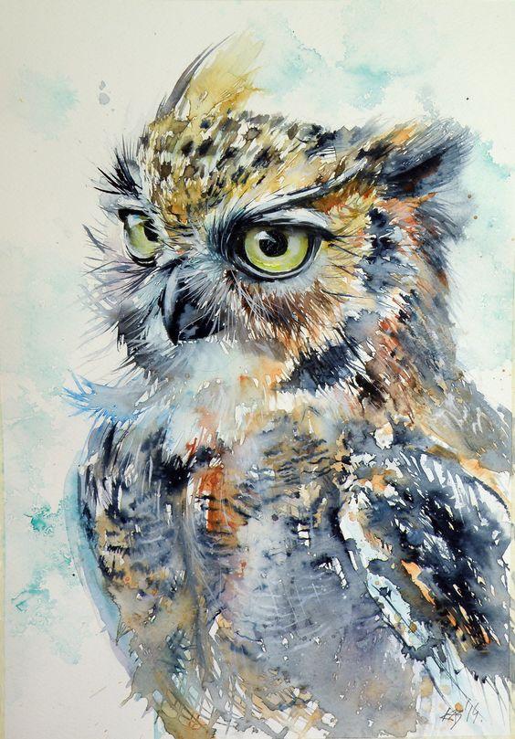 Les animaux peints à l'AQUARELLE 08ea6510