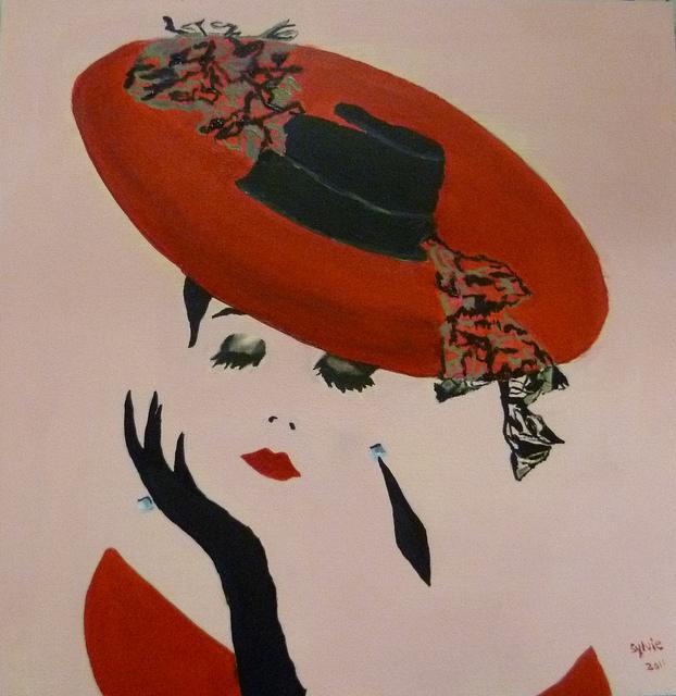"""Des élégantes  """"chapeautées"""" ... - Page 12 69794510"""