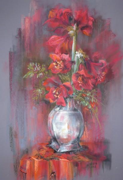Les FLEURS  dans  L'ART - Page 41 Amaryl10