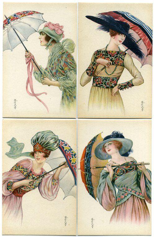 """Des élégantes  """"chapeautées"""" ... - Page 8 Fem_ar11"""