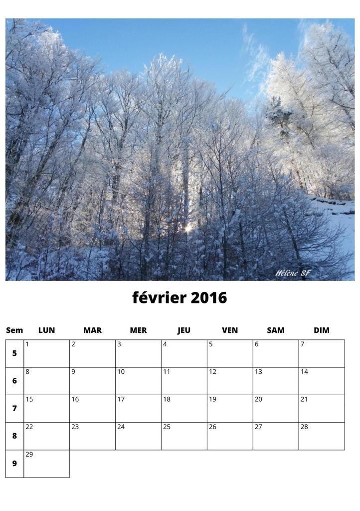 CALENDRIERS ORIGINAUX DES MOIS DE L ANNEE PAR ORDRE ALPHABETIQUE - Page 38 Fevrie11