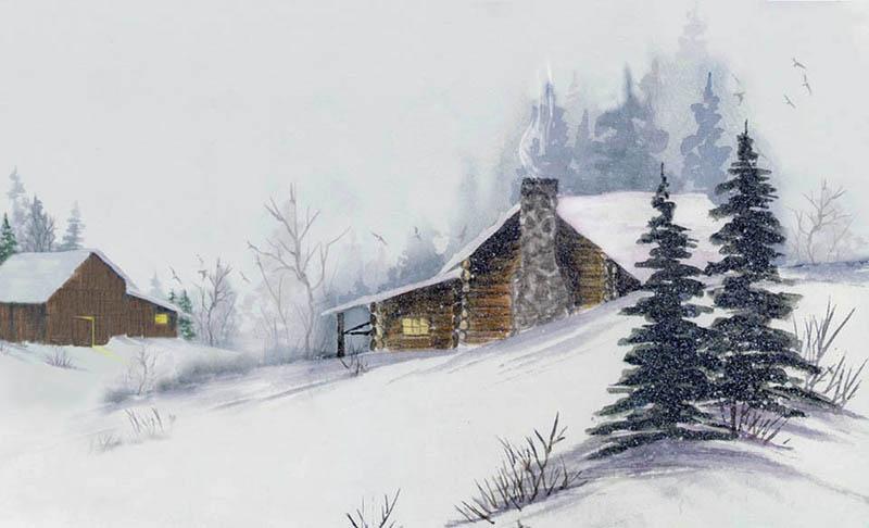Tous les paysages en peinture. - Page 4 Hiver_13
