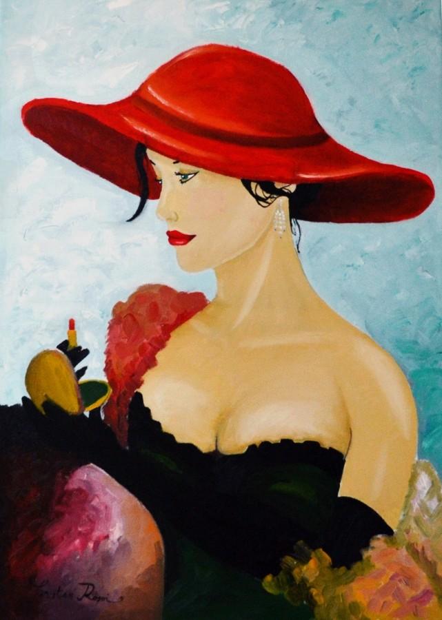 """Des élégantes  """"chapeautées"""" ... - Page 12 Lady-w10"""