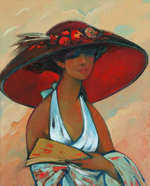 """Des élégantes  """"chapeautées"""" ... - Page 8 Lady_i10"""