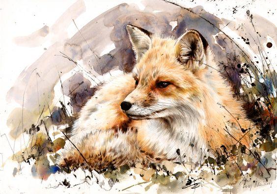 Les animaux peints à l'AQUARELLE Lucy_n12