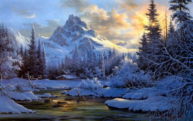 Tous les paysages en peinture. - Page 4 Mounta10