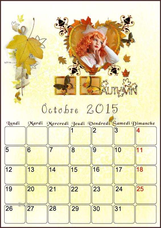 CALENDRIERS ORIGINAUX DES MOIS DE L ANNEE PAR ORDRE ALPHABETIQUE - Page 38 Octobr11