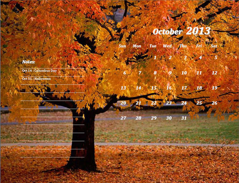 CALENDRIERS ORIGINAUX DES MOIS DE L ANNEE PAR ORDRE ALPHABETIQUE - Page 40 Octobr14