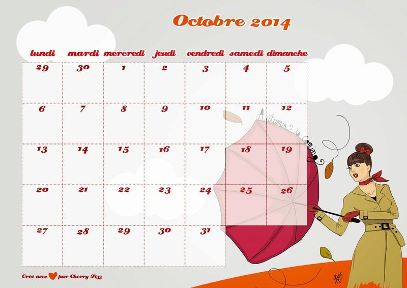 CALENDRIERS ORIGINAUX DES MOIS DE L ANNEE PAR ORDRE ALPHABETIQUE - Page 40 Octobr15
