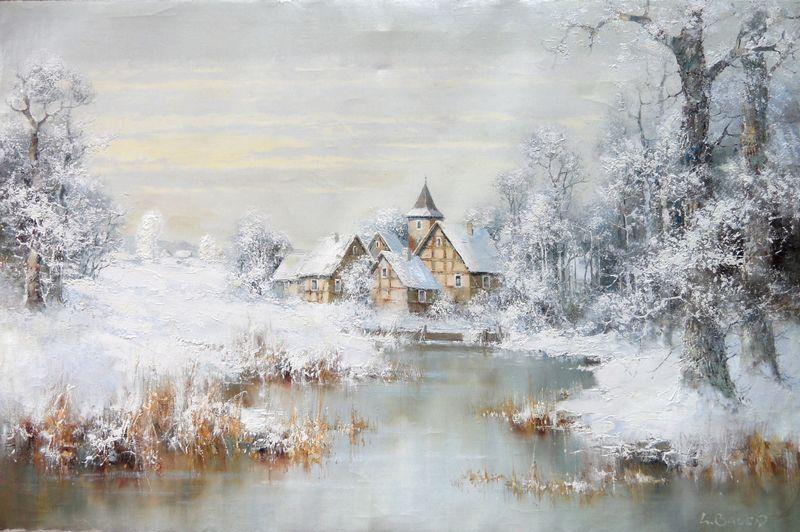 Tous les paysages en peinture. - Page 3 Snow-c10