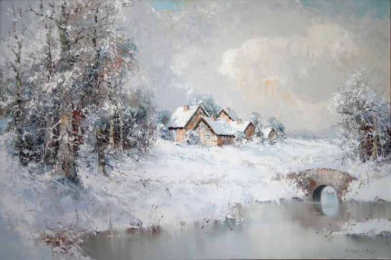 Tous les paysages en peinture. - Page 4 Snowy-10