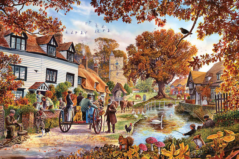 Tous les paysages en peinture. - Page 2 Villag11