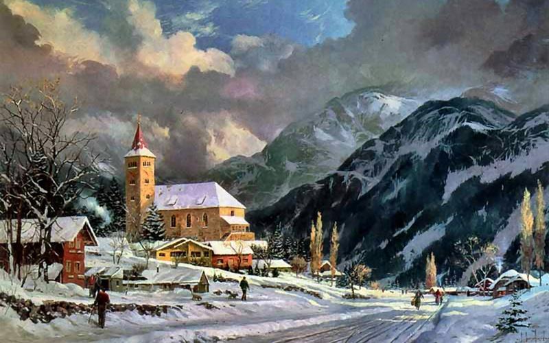 Tous les paysages en peinture. - Page 5 Winter25