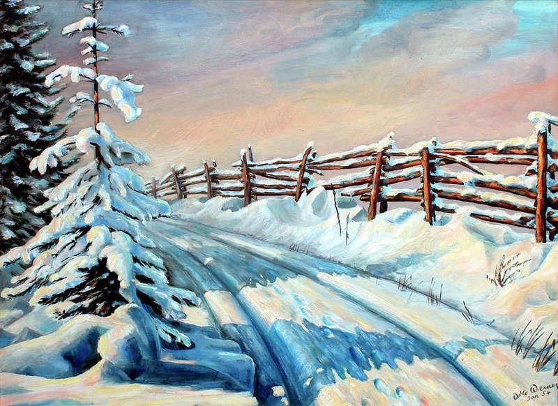 Tous les paysages en peinture. - Page 5 Winter26
