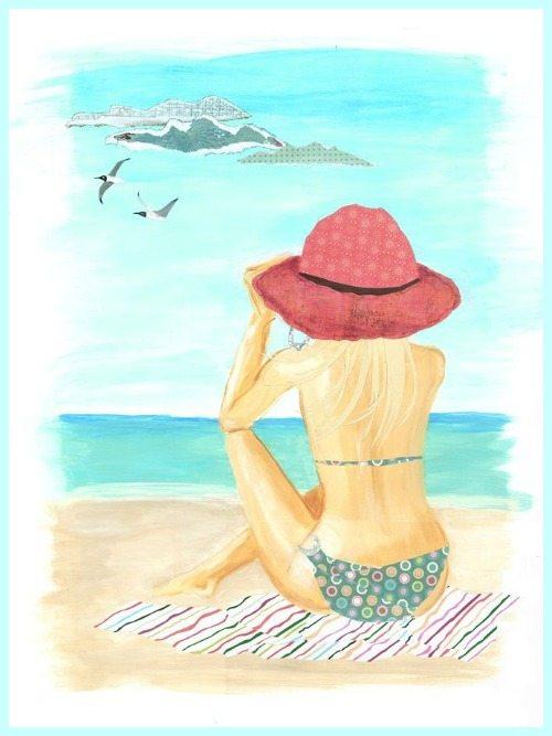 """Illustrations ... pour l'été ... Plage et """"farniente"""" ... - Page 13 Woman-11"""