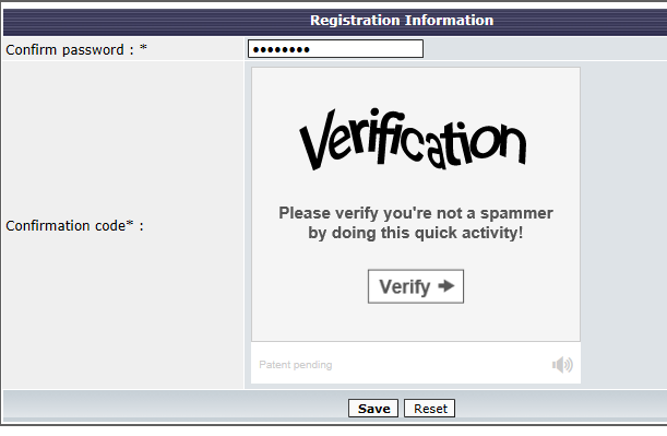 New users unable to register - Captcha not working Captur11