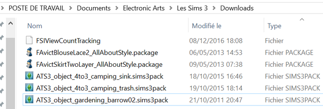 Installation et désintallation du contenu personalisé. (.sims3pack et .package) Magie210