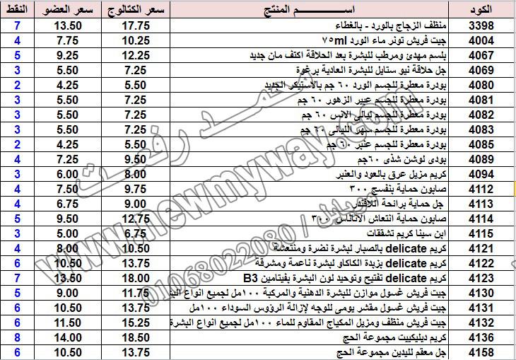 حصريا ::قائمة أسعار منتجات ماى واى في شهر يناير 2017 .. بسعر الكتالوج .. بسعر العضويه .. وعدد النقاط  11_o17