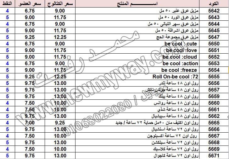 حصريا ::قائمة أسعار منتجات ماى واى في شهر يناير 2017 .. بسعر الكتالوج .. بسعر العضويه .. وعدد النقاط  18_o15
