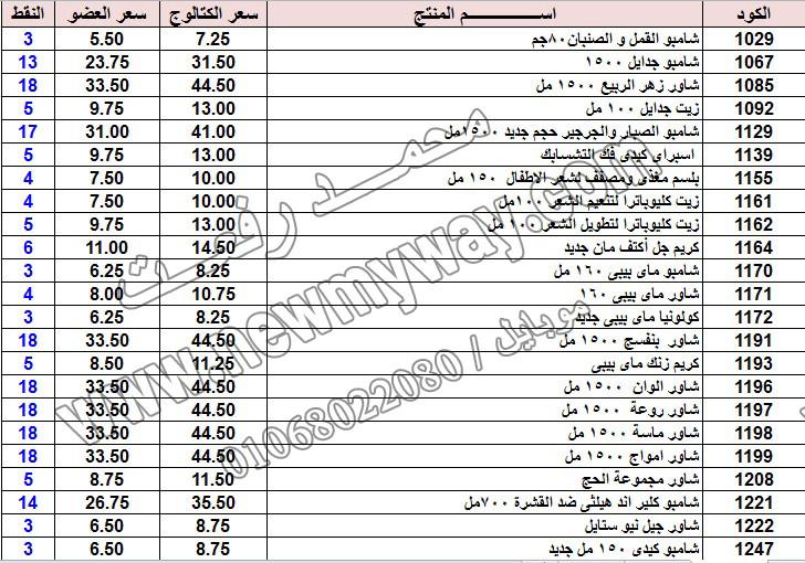 حصريا ::قائمة أسعار منتجات ماى واى في شهر يناير 2017 .. بسعر الكتالوج .. بسعر العضويه .. وعدد النقاط  1_o19