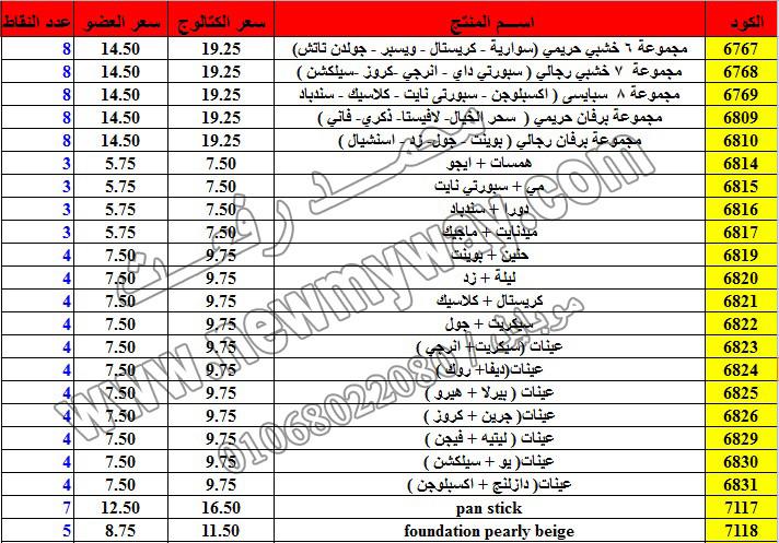 حصريا ::قائمة أسعار منتجات ماى واى في شهر ديسمبر 2016 .. بسعر الكتالوج .. بسعر العضويه .. وعدد النقاط 21_o11
