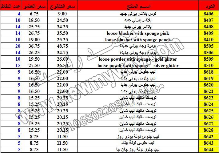 حصريا ::قائمة أسعار منتجات ماى واى في شهر ديسمبر 2016 .. بسعر الكتالوج .. بسعر العضويه .. وعدد النقاط 24_o11