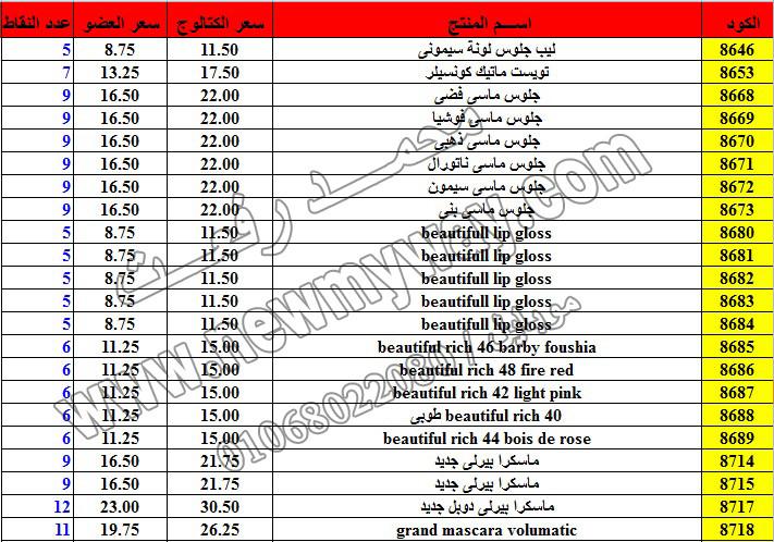 حصريا ::قائمة أسعار منتجات ماى واى في شهر ديسمبر 2016 .. بسعر الكتالوج .. بسعر العضويه .. وعدد النقاط 25_o11