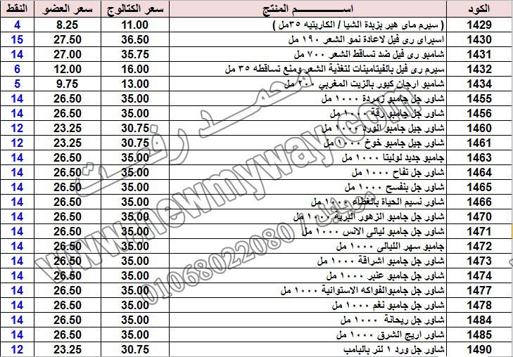 حصريا ::قائمة أسعار منتجات ماى واى في شهر يناير 2017 .. بسعر الكتالوج .. بسعر العضويه .. وعدد النقاط  5_o19