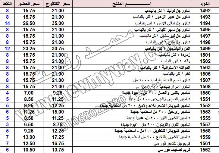 حصريا ::قائمة أسعار منتجات ماى واى في شهر يناير 2017 .. بسعر الكتالوج .. بسعر العضويه .. وعدد النقاط  6_o18