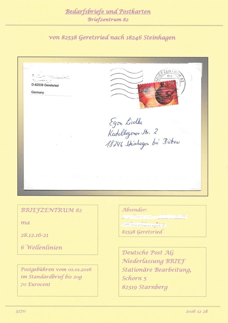 Stempel Deutsche Briefzentren 80 - 89 2016_115
