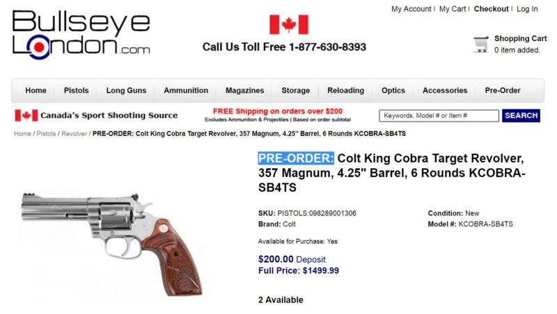 Nouveau revolver Colt King Cobra Target Bulley10