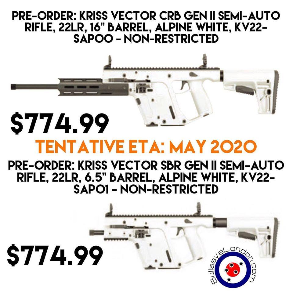 Kriss Vector calibre .22lr disponible en 2020 Kriss-20