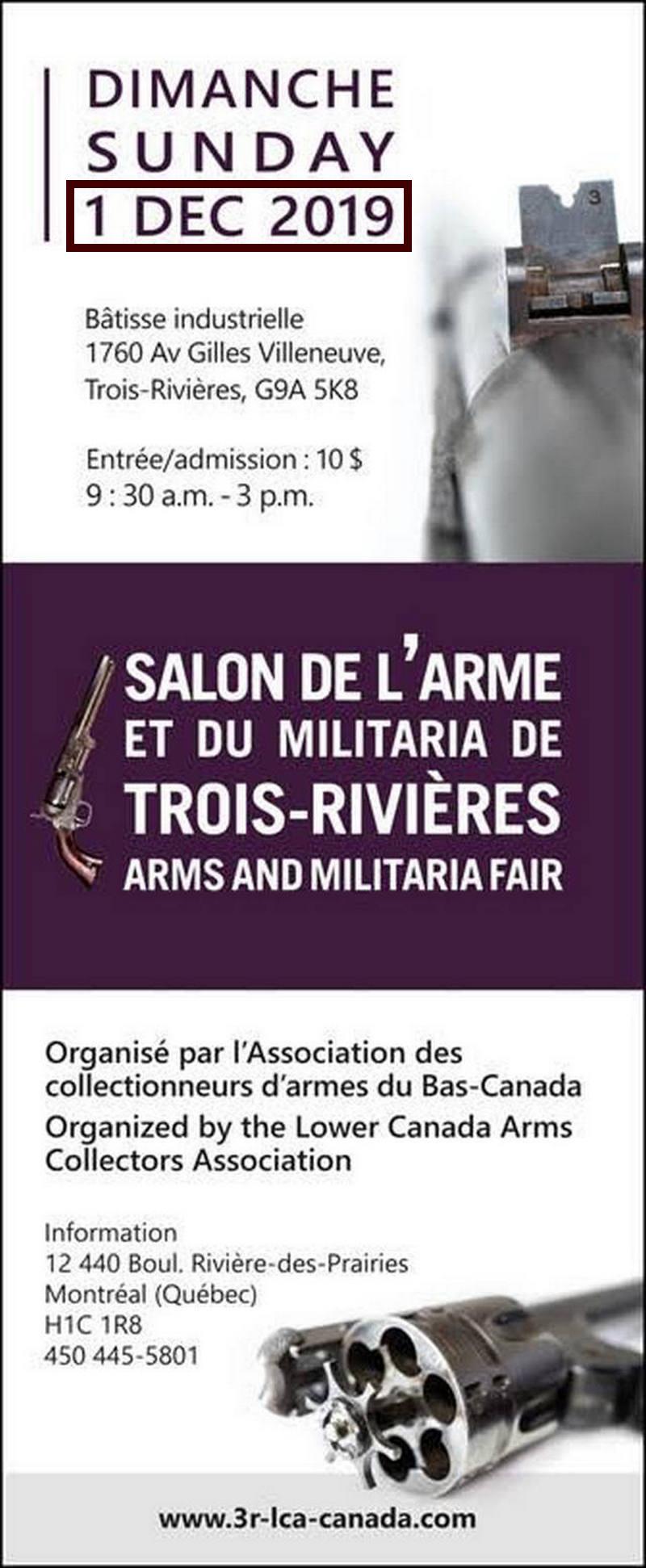 Salon de l'arme de Trois-Rivières dimanche 1er décembre 2019 Salon-10