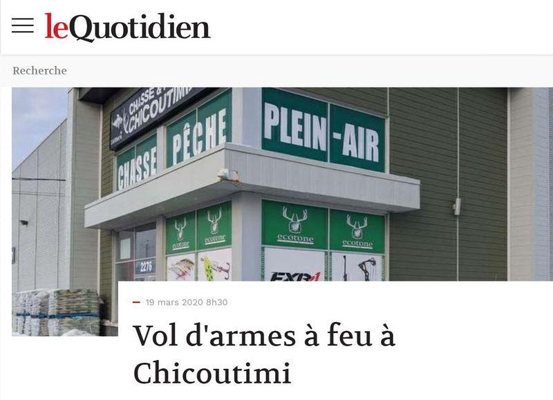 Vol d'armes à feu à Chicoutimi. Vol-ar10