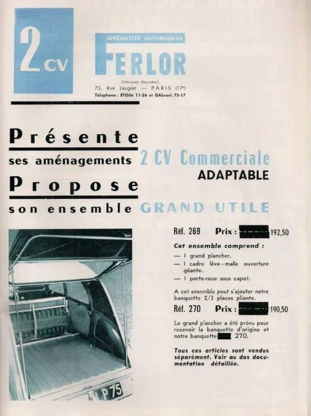 Citroën 2 CV : ACCESSOIRISTES transformations  5c7fdb10
