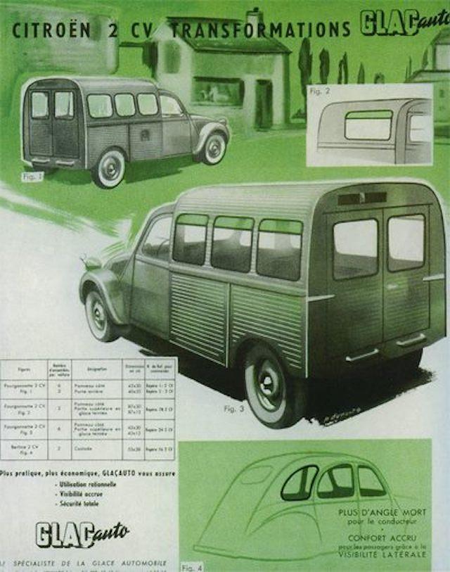 Citroën 2 CV : ACCESSOIRISTES transformations  Glacau10