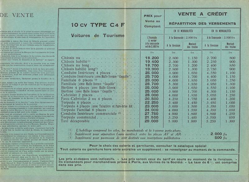 DOCUMENTS D'EPOQUE C4F Tarif_11
