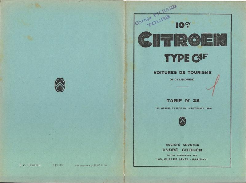 DOCUMENTS D'EPOQUE C4F Tarif_12