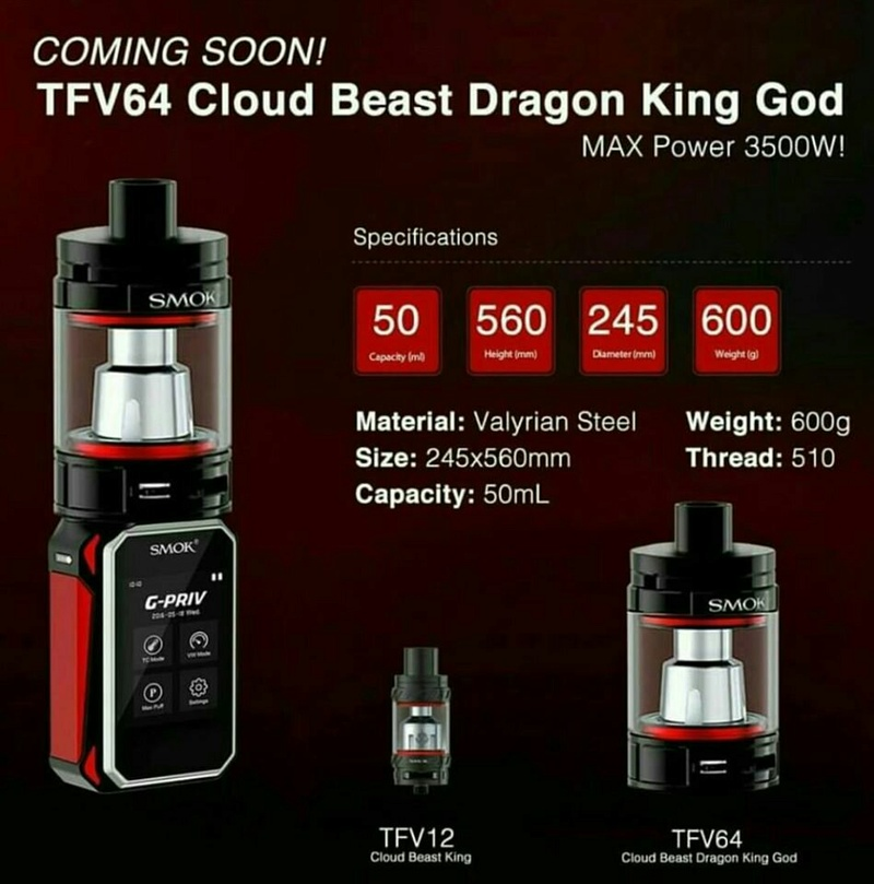 Smoktech TFV12 : le clearomiseur genre bolide 3f8a1710
