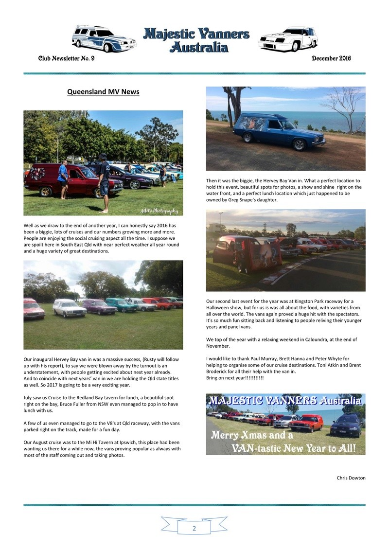 Majestic Vanners Newsletter Issue No. 9 December 2016 0210