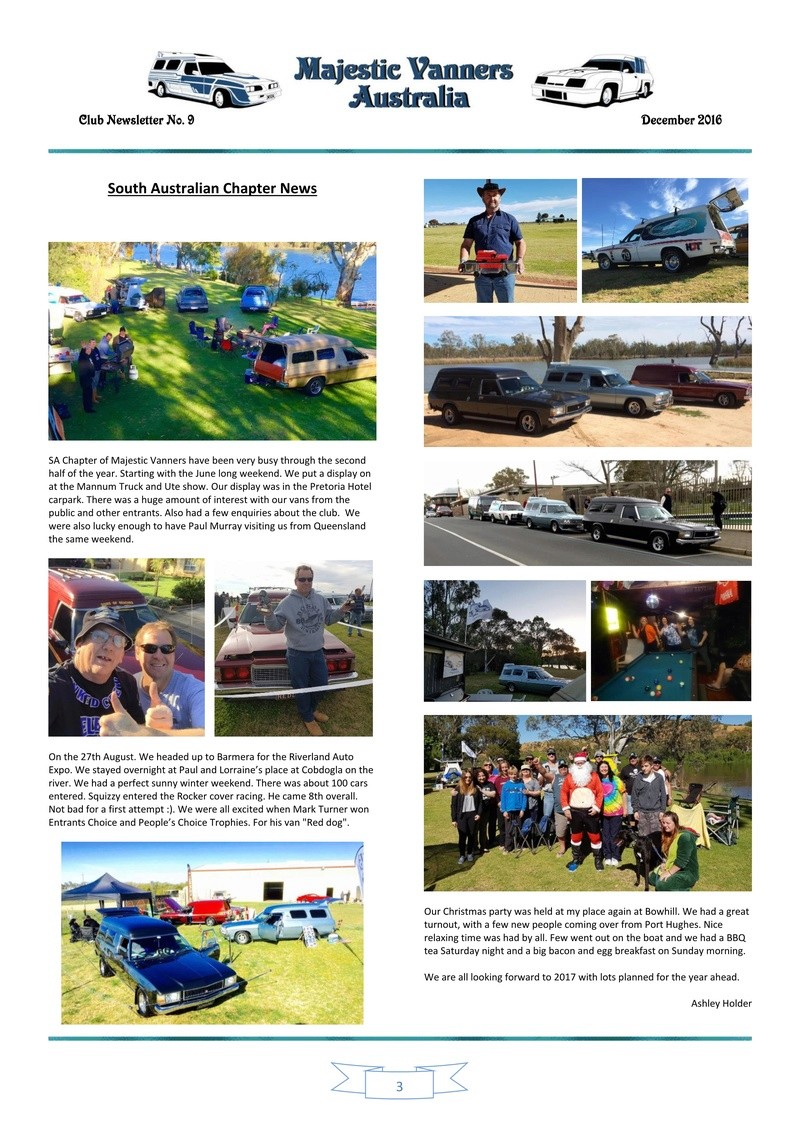 Majestic Vanners Newsletter Issue No. 9 December 2016 0310